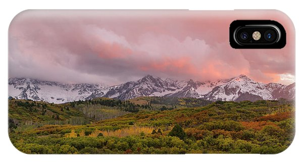 Sunset On The Dallas Divide Ridgway Colorado IPhone Case