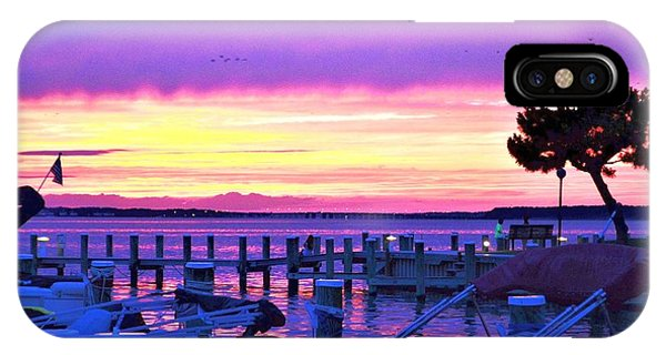 Sunset On The Docks IPhone Case