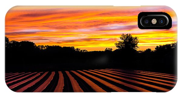 Sunset On The Farm IPhone Case