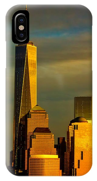 Sunset On The Financial District IPhone Case