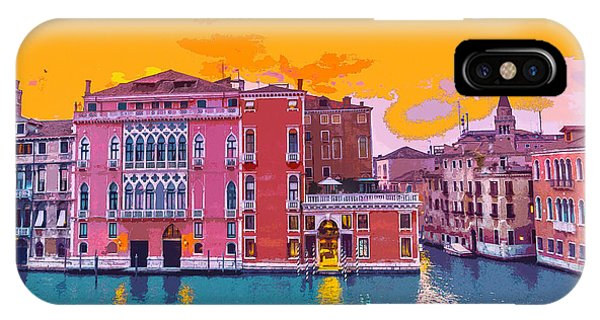 Sunset On The Grand Canal Venice IPhone Case