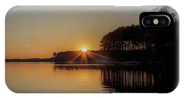 Treeline iPhone Case - Sunset On The Lake by Cassia Rivera