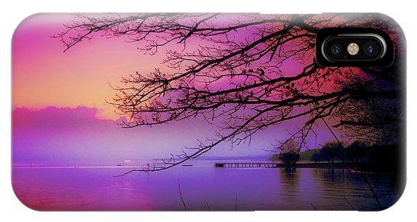 Sunset On The Lake IPhone Case