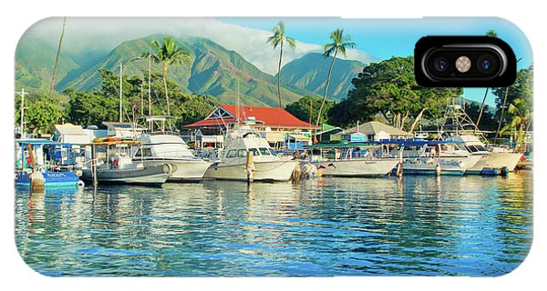 Sunset On The Marina Lahaina Harbour Maui Hawaii IPhone Case