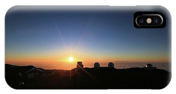 Sunset On The Mauna Kea Observatories IPhone Case