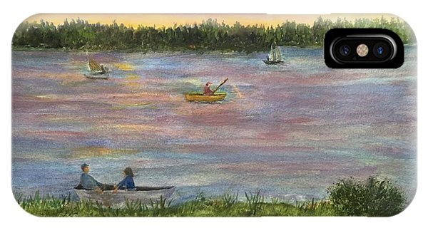 Sunset On The Merrimac River IPhone Case