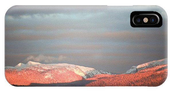 Sunset On The Monashees IPhone Case