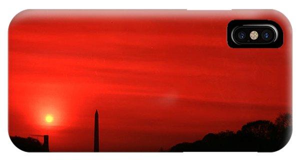 Sunset On The National Mall Washington Dc IPhone Case