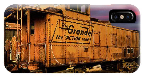 Red Caboose iPhone Case - Sunset On The Rio Grande by TL Mair
