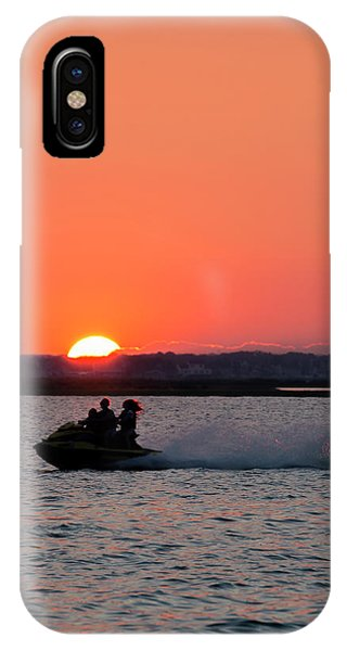 Jet Ski iPhone Case - Sunset On The Ski by Ryan Crane