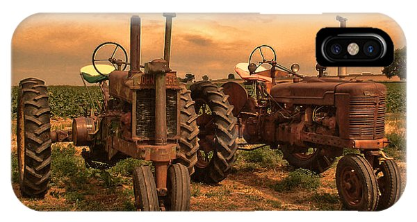 Sunset On The Tractors IPhone Case