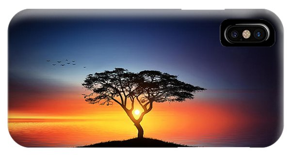 Sunset On The Tree IPhone Case