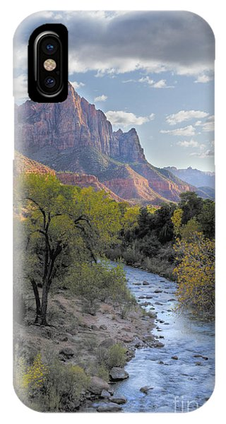 Sunset iPhone Case - Sunset On The Watchman by Sandra Bronstein