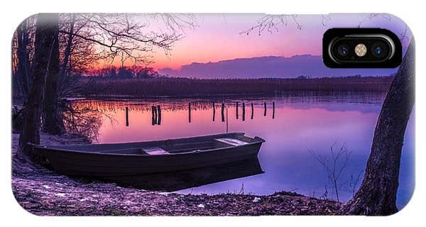 Sunset On The White Lake IPhone Case