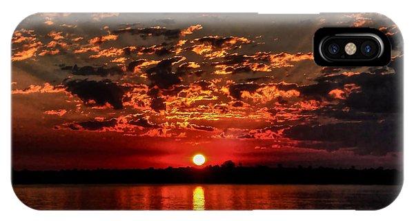 Sunset On The Zambezi IPhone Case