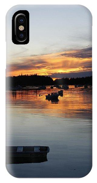 Sunset On Vinalhaven Maine IPhone Case