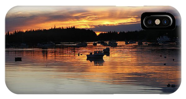 Sunset On Vinalhaven Maine IPhone Case