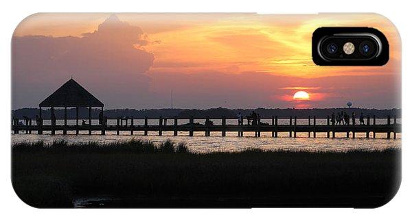 Sunset On Wetlands Walkway IPhone Case