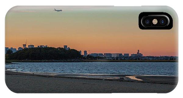 Sunset On Wollaston Beach In Quincy Massachusetts IPhone Case