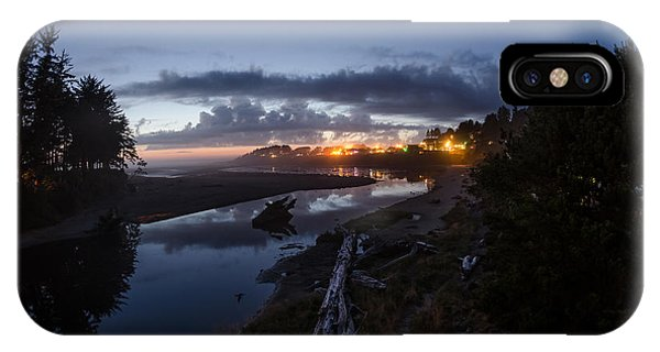Sunset On Yachats River IPhone Case