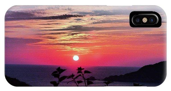 Sunset On Zihuatanejo Bay IPhone Case