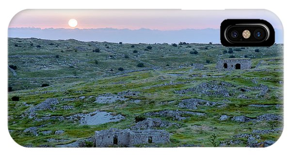 Sunset Over A 2000 Years Old Village IPhone Case