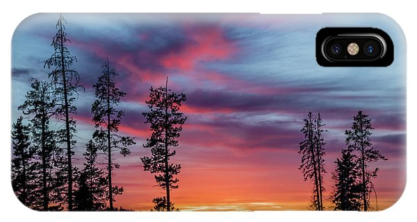 Sunset Over A Farmers Field, Cowboy Trail, Alberta, Canada IPhone Case