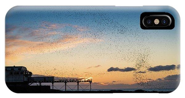 Sunset Over Aberystwyth Pier IPhone Case