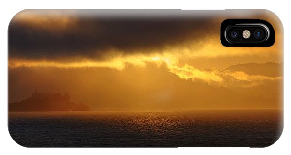 Sunset Over Alcatraz IPhone Case