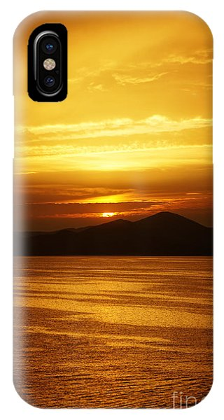 Greece iPhone Case - sunset over Athens by HD Connelly