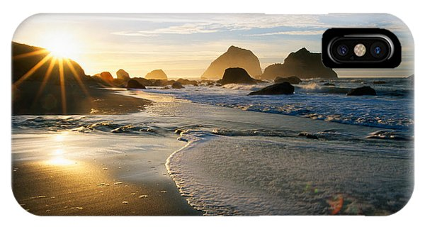 Sunset Over Beach Scene IPhone Case