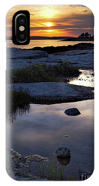 Sunset Over Boothbay Harbor Maine  -23095-23099 IPhone Case