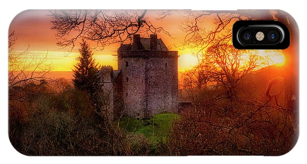 IPhone Case featuring the photograph Sunset Over Castle Campbell In Scotland by Jeremy Lavender Photography