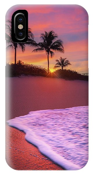 Sunset Over Coral Cove Park In Jupiter, Florida IPhone Case