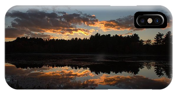 Sunset Over Cranberry Bogs IPhone Case