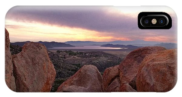 Sunset Over Diamond Valley Lake IPhone Case