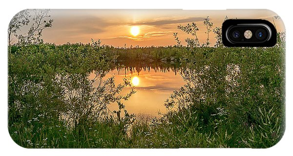 Sunset Over Fiddlers Lake IPhone Case