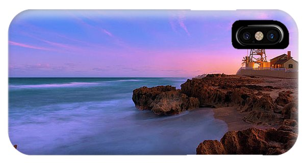 Sunset Over House Of Refuge Beach On Hutchinson Island Florida IPhone Case