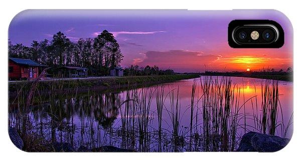 Sunset Over Hungryland Wildlife Management Area IPhone Case