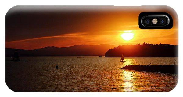 Sunset Over Lake Champlain IPhone Case
