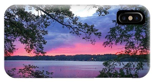 Sunset Over Lake Cherokee IPhone Case