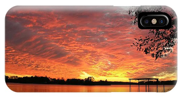 Sunset Over Lake Murray IPhone Case