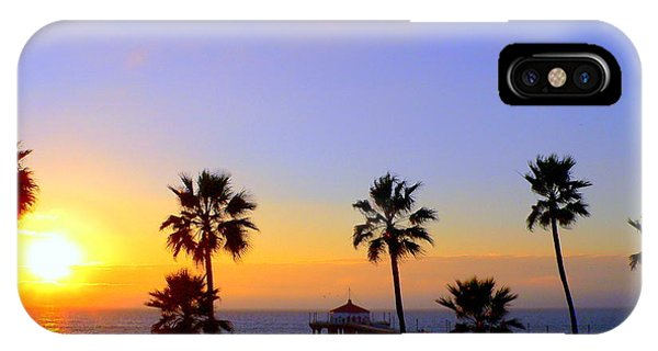 Sunset Over Manhattan Beach IPhone Case