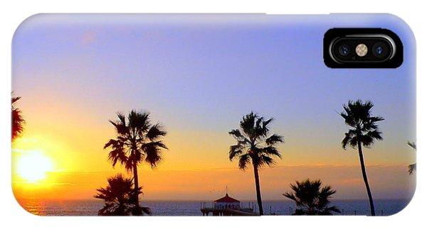 Sunset Over Manhattan Beach IPhone Case