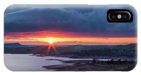 Sunset Over Millerton Lake  IPhone Case