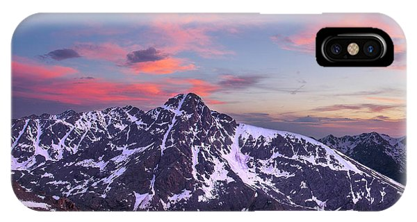 Fourteener iPhone Case - Sunset Over Mt. Of The Holy Cross by Aaron Spong