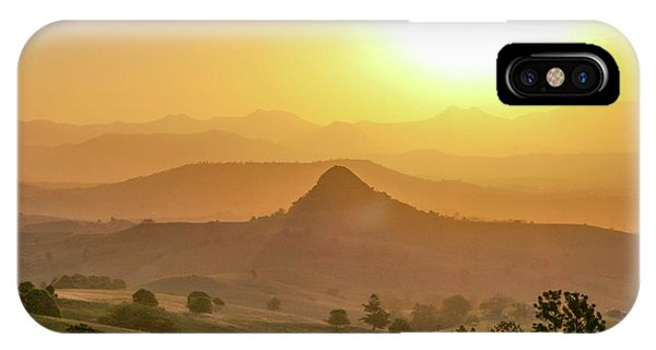 IPhone Case featuring the photograph Sunset Over Mt Sugarloaf by Keiran Lusk
