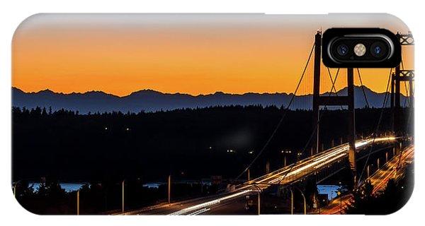 Sunset Over Narrrows Bridge Panorama IPhone Case