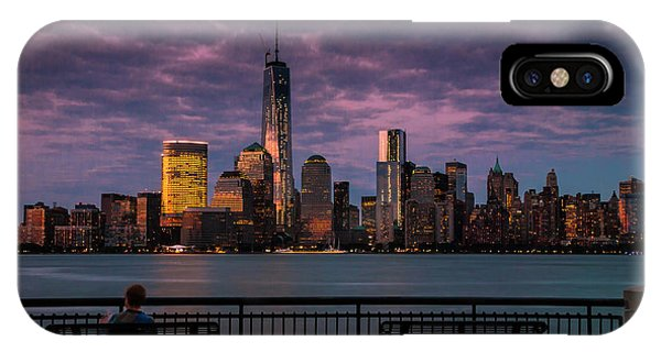Sunset Over New World Trade Center New York City IPhone Case