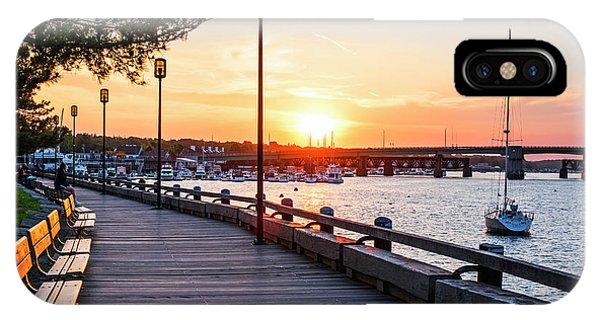 Sunset Over Newburyport Ma Merrimack River Newburyport Turnpike IPhone Case